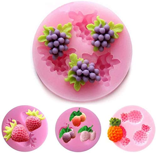 Baifeng 4 Piece Fruit Silicone Cake Molds,Fondant Soap Mould