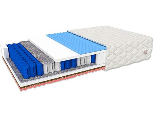 GINASO Memory Foam Matratze Atmungsaktive 7-Zonen Taschenfederkernmatratze Kokos...