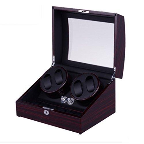 Caja Giratoria para Relojes Reloj de Lujo Winder Leather Leather Display Display Winder Case Automático de rotación Winders Caja de Almacenamiento de Reloj (Color : 4+6 Red+Black)
