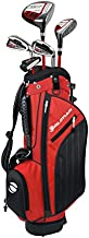 Orlimar Golf ATS Junior Boy's Golf Set with Bag, Right and Left Hand, Ages 3-5, Lime/Blue (3 Clubs)