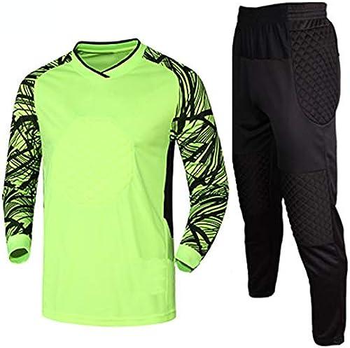 Gardien de But de Football Costume à Manches Longues Armure Costume de Football Convient aux Hommes et aux Enfants (MultiCouleure en Option) L-XXL
