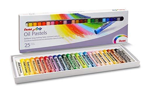 Giz Pastel Oleoso Pentel Para Desenhar Com 25 Cores, Pentel, Phn-25, 25 Cores