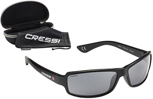 Cressi Ninja, Adult Sport Sunglasses, Polarized Lenses, Protective Case (Dark)