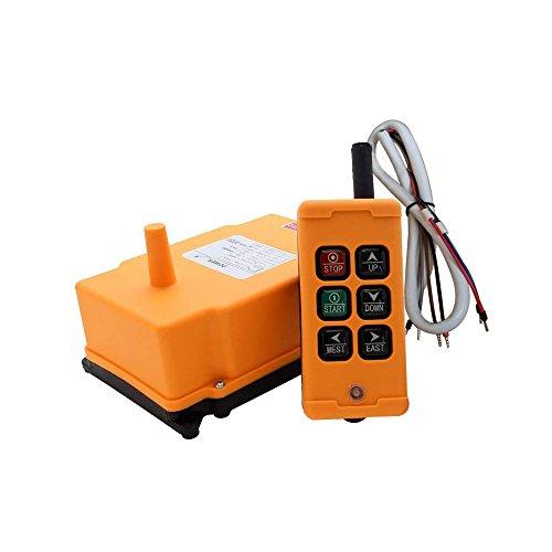Vogvigo 6 sleutels Hoist afstandsbediening drukknopschakelaar draadloze kraan industriële afstandsbediening 1 zender 1 ontvanger (spanning is optioneel-220 V)