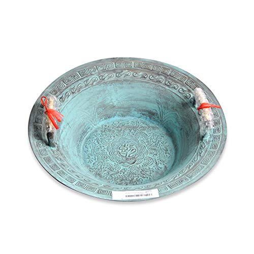 American-Brand Fristaden Lab Resonance Bowl   Learn How Sound Waves Work Bronze   Engraved with Han Dragons   Chinese Spouting Bowl For Classroom Education, Science Experiments