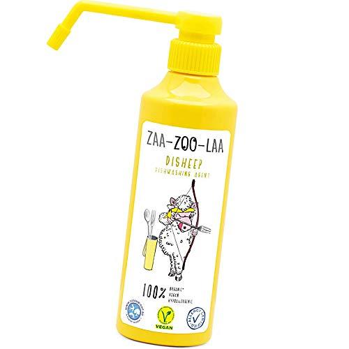 Detergente líquido para lavar a mano – Agent Disheep – Alternativa a los tradicionales limpiadores de platos o jabón de vajilla – 100% orgánico, vegano, hipoalergénico – no tóxico y seguro – 350 ml