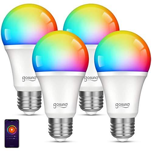 Smart WiFi Light Bulb Gosund LED WiFi RGB Color Changing Bulbs That Works with Alexa Google Home...