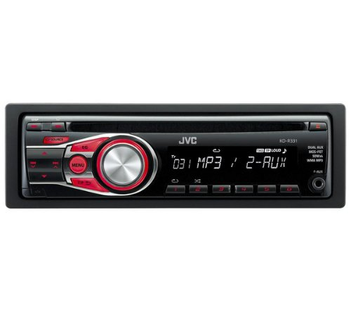 JVC KD-R 331 und Black Car Media Receiver – Car Media Receivers (4.0 Channels, UKW, MW, 24-Bit, Mos-FET, Black, 50 W)