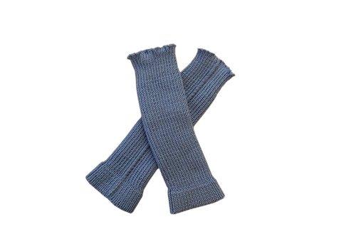 100% Merino Wolle Baby Stulpen Beinwärmer Socken Gestrickt Tragriemen S Sky blue