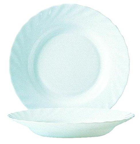 Suppenteller Teller tief Trianon Ø 22,5 cm Glas weiß von Arcoroc