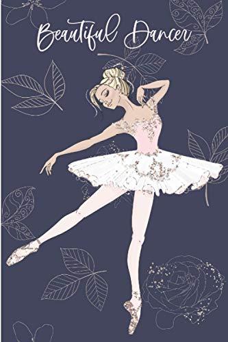 Beautiful Dancer: Dance Journal Notebook For Girls Young Women, Best Gift For Ballerina - Pretty Golden Hair Girl in Pink Ballet Dress Cover 6
