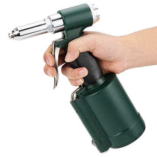 """Pistola remachadora hidráulica de aire, uso industrial, kit de remachadora neumática de alta resistencia comprimida 3/16"""" 5/32"""" 1/8"""" 3/32"""" de repuesto, almacenada en estuche"""