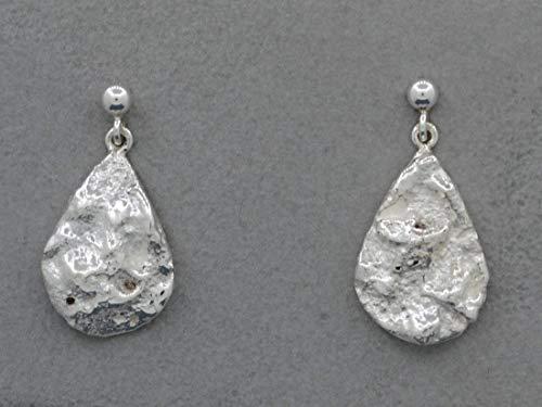 Tropfen-Ohrhänger wie Meerschaum 925 Silber, massiv