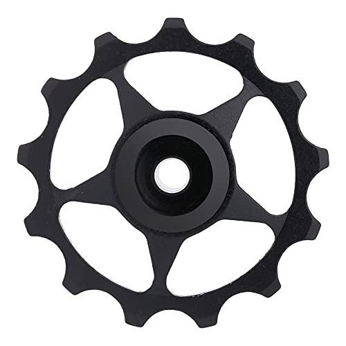 LIXFDJ Polea de desviador de bicicleta 11T/13T, rueda de bicicleta de aluminio desviador trasero polea de montaña bicicleta de carretera engranaje rueda guía