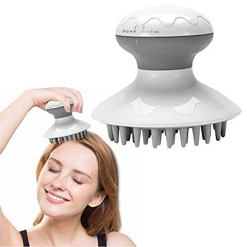 Masajeador de Cabeza eléctrico antiestático relajamiento del estrés Cepillos de champú Peine Depurador de limpieza de cabello