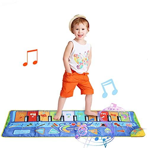 Urisgo Alfombrilla para Piano, Alfombrilla para música, Alfombrilla para Baile de Animales, Manta para Jugar, Juguetes educativos, Regalo para niños y niñas