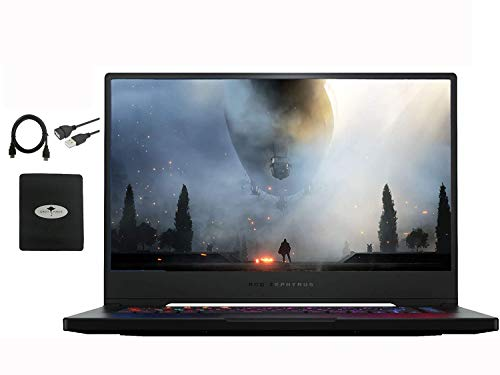 2020 Newest ASUS ROG 15 15.6' FHD Gaming Laptop, Intel Core i7 9750h (Beat i9-8950HK)-6 Core(up to 4.5GHz), 16GB Memory DDR4 ,NVIDIA GeForce RTX 2060, 1TB SSD+Optane,USB-C,Win10 w/Hesvap Accessories