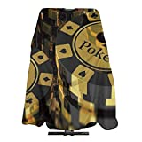 tiao9143 Haircut Cape Pokers Tournament Gold Black Poker Chips Personalized Haircut Salon Barber Cape Cover for Hair Cutting Home Hairdressing Wrap Apron