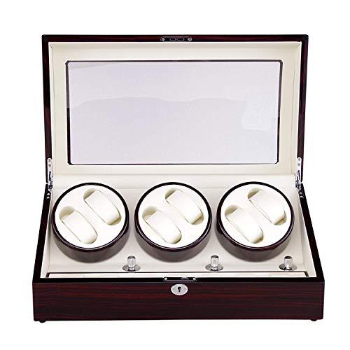 XUSHEN-HU Deluxe de Madera, Reloj automático de la devanadera 6 + 7 Watch Winder o 13 Relojes Caja de Reloj de Spinning