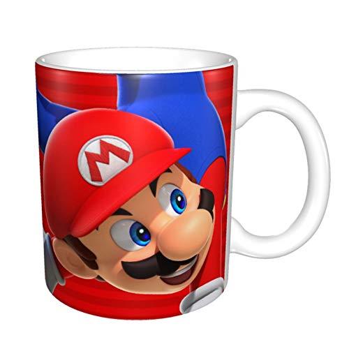 Super Mario - Taza de café para capuchino, latte o té caliente, 330 ml