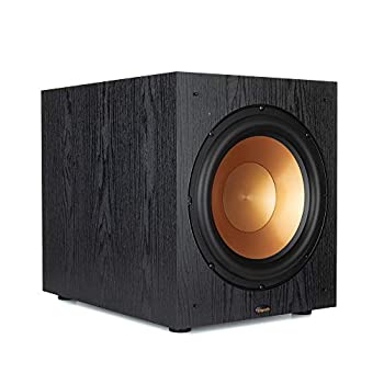 """Klipsch Synergy Black Label Sub-120 12"""" Front-Firing Subwoofer with 200 Watts of continuous power 400 watts of Dynamic Power and Digital Amplifier for Powerful Home Theater Bass in Black"""