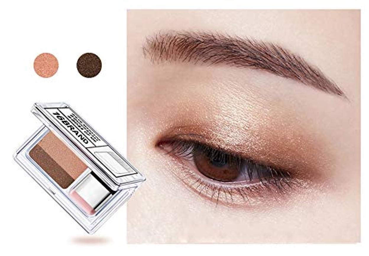 ボタン製油所支配的Double Color Eye Shadow Makeup Palette Glitter Palette Eyeshadow Pallete Waterproof Glitter Eyeshadow Shimmer Cosmetics #01