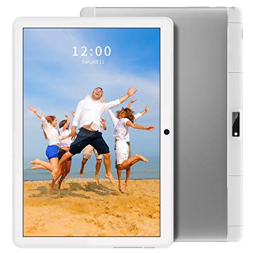 ANTEMPER Tablet 10 Zoll Android 9.0,Quad Core,32GB eMMC,2GB RAM,Phablet-mit Dual SIM Kartensteckplatz für Telefonanrufe,1280p IPSHD Display,5MP + 2MP Dual-Kameras,WiFi/Bluetooth/GPS【Weiß】