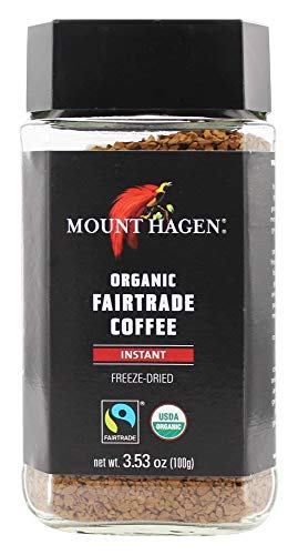 MOUNT HAGEN Organic Fairtrade CoffeeInstant FreezeDried Pack of 6 Size 353 OZ  No Artificial Ingredients Fair Trade Item 95% Organic
