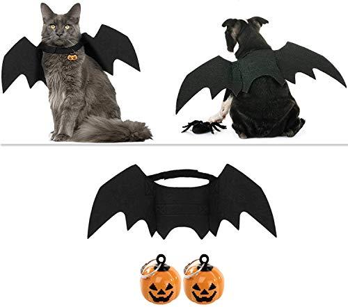 ProLeo Halloween Kostüm für Haustiere, Katze Bat Wings, Katze Hund Bat Kostüm Pet Kostüm Katze Fledermausflügel für Party/Halloween