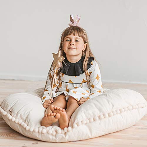 Kids Floor Pillow by MINICAMP - Excellent for Kid Teepee - Comfortable Cushion Seat for Home Decoration – Large Pillows for Children Playroom from 100% Cotton & Hypoallergenic Filling