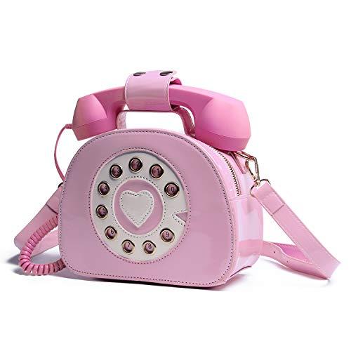 Oweisong Women Telephone Shaped Handbag and Purses Retro Phone Top-Handle Shoulder Bags Crossbody Totes