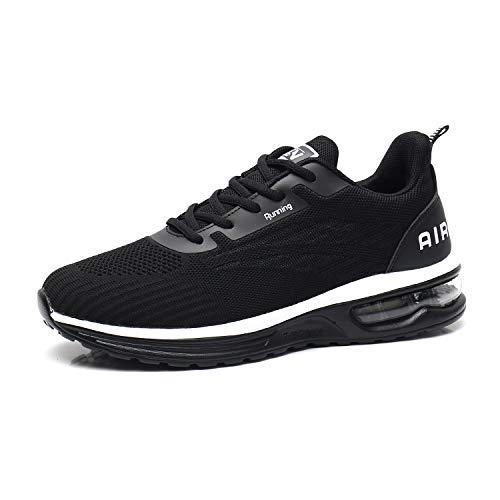 Axcone Laufschuhe Herren Damen Sportschuhe Straßenlaufschuhe Sneaker Joggingschuhe Turnschuhe Walkingschuhe Traillauf Fitness Schuhe-9001BK44