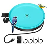 Soundfair Heated Bird Bath, 3 in 1 All Seasons Available Frost Resistant Energy Saving, Heated Bird Waterer for Winter Outdoors Lawn Garden Yard