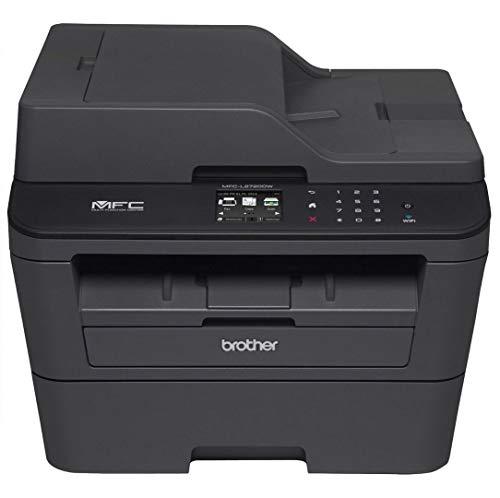 Brother MFC-L5750DW - Impresora multifunción láser monocromo (bandeja 250 hojas, 40 ppm, USB 2.0, memoria de 256 MB, doble cara automática, Ethernet, Wifi) color gris carbón
