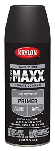 Krylon K09198000 COVERMAXX Spray Paint, Matte Black, 12 Ounce