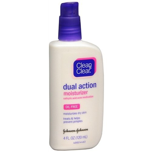 Clean & Clear Oil-Free Dual Action Moisturizer 4 fl oz (12 ml)