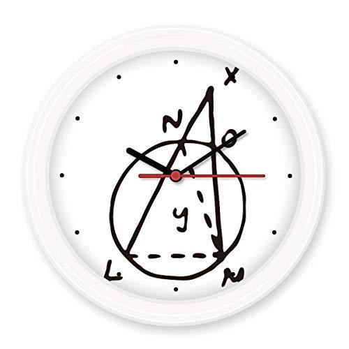 BeatCong Trigonometrische Funktion Mathematik Wissenschaft Vector Illustration Silent-Non-Ticken runde Wand dekorative Uhr Batteriebetriebene Uhren Gift Abziehbild