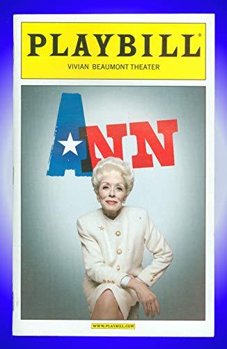 Ann, Broadway Playbill + Holland Taylor, Julie White