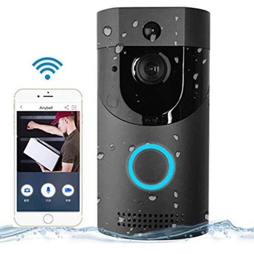 Timbre De Video, Videoportero Inalámbrico 720P HD Conversación y Video Bidireccional En Tiempo Real, Visión Nocturna, Detección De Movimiento Pir y Control De Aplicaciones para iOS, Android