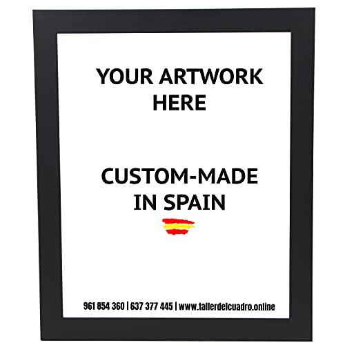 Marco para foto, póster, puzzle, diploma, lámina... Hecho en Madera (varios tamaños y colores) con cristal metacrilato y trasera antihumedad | serie 2682-11 (61 x 91,5 cm)