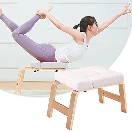 Taburete De Yoga De Inversión Silla De Inversión Familiar con Reposacabezas para Entrenador De Reposacabezas Familiar para Entrenamiento, Fitness Y Gimnasio