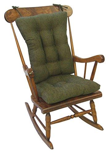 Klear Vu Tyson XL Gripper Non-Slip Extra Large Overstuffed Rocking Chair Pad Set, 17' x 17', Green