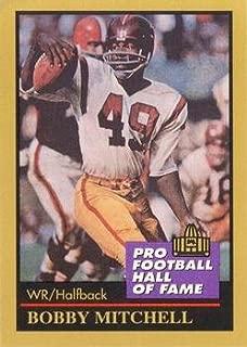 Bobby Mitchell football card (Washington Redskins) 1991 Enor #100 Pro Football Hall of Fame Halfback
