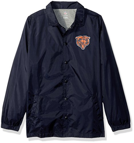 OuterStuff NFL Jungen Youth Bravo Trainer Jacke, Jugendliche Jungen, NFL Youth Boys Bravo Coaches Jacket, Deep Obsidian, Youth Boys Small(8)