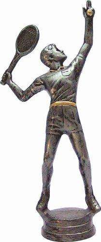 RaRu Tennis-Pokal auf weißem Marmorsockel montiert mit Wunschgravur (34604)