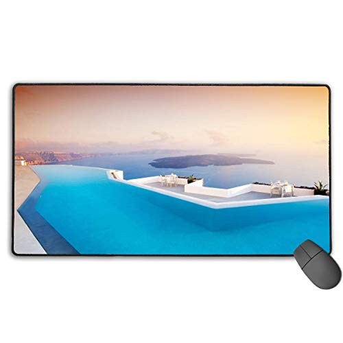 Drempad Gaming Mauspads Custom, Non-Slip Mouse Pads Rectangle Rubber Mousepad Swimming Pool Print Gaming Mouse Pad