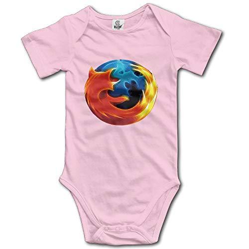 FGRFQ Firefox Logo Baby Romper Short Sleeve Babysuit Baby Onesie For Boy Girl