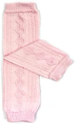 ALLYDREW Solid Baby Leg Warmer Solid Toddler Leg Warmer for Boys Girls Cable Knit Light Pink product image