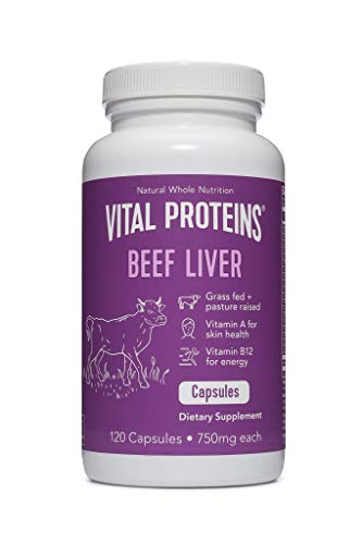 Grass-Fed Desiccated Beef Liver Pills - Vital Proteins (120 Capsules,...