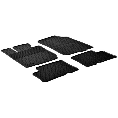 Gledring Set tapis de caoutchouc compatible avec Dacia Duster 2010-2015 (G profil 4-pièces + clips de montage)
